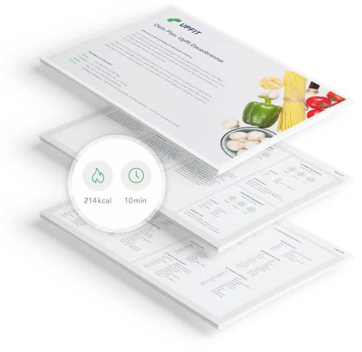 Upfit Ernährungsplan Inhalt Vorschau