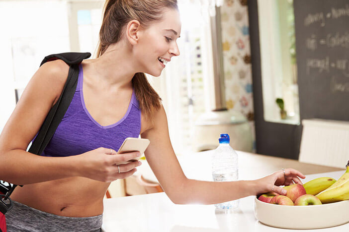 woman following a meal plan for weight loss