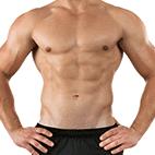 Very low body fat male
