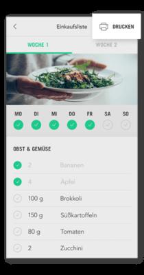 Einkaufsliste digital auf dem Handy nutzen oder ausdrucken und mitnehmen