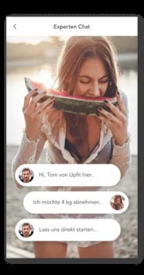 Live-Chat mit Ernährungsexperten ist immer für dich da und betreut dich wo du es brauchst