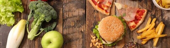 Günstig gesund essen vs. Fast Food