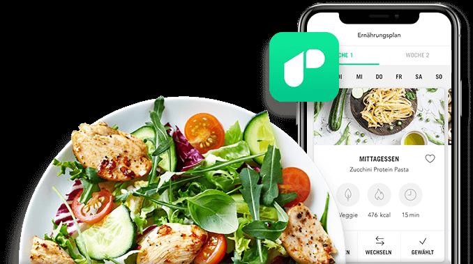 Abnehmen, Gesunde Ernährung, Muskelaubau mit der Upfit App