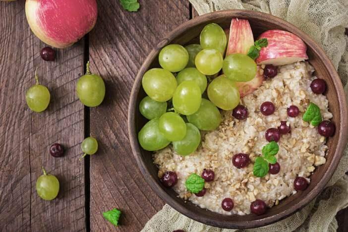 Upfit Trauben-Apfel-Porridge Rezept-1