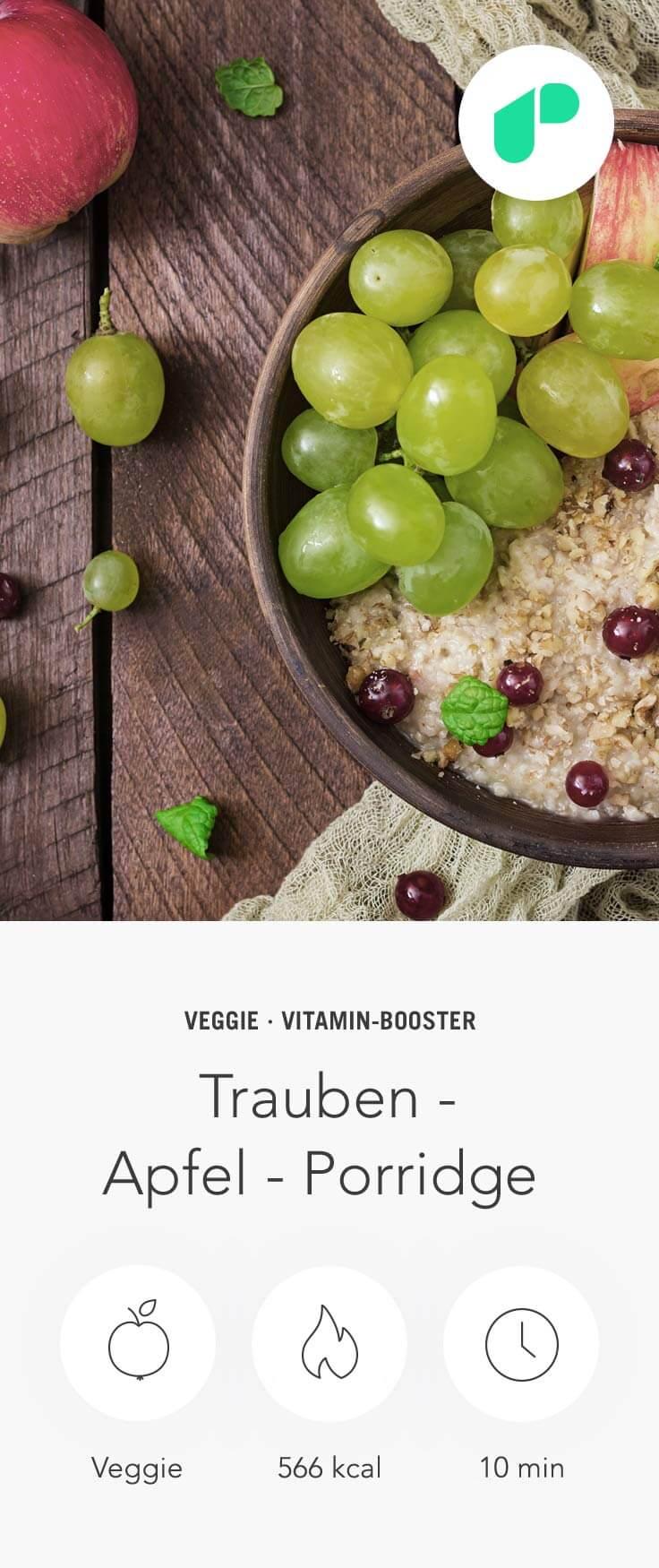 Rezept von Haferflocken mit Apfel, um Gewicht zu verlieren