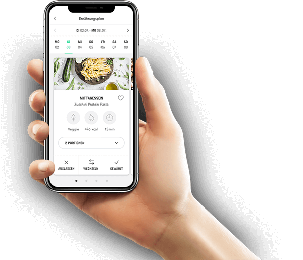 Upfit Ernährungsplan App für Abnehmen, Clean Eating, Fettabbau und Muskelaufbau