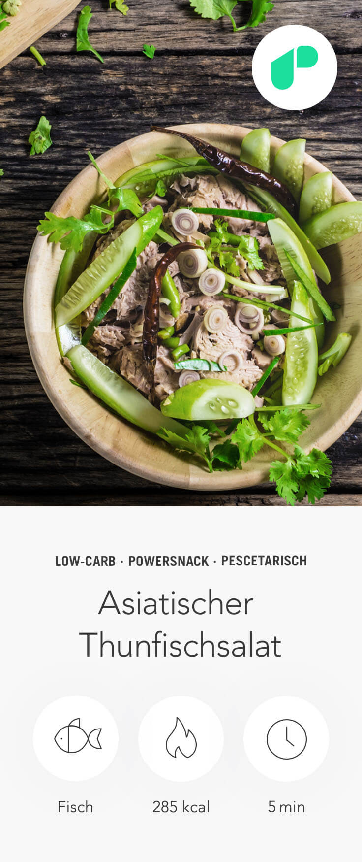 Upfit - Asiatischer Thunfischsalat Pin