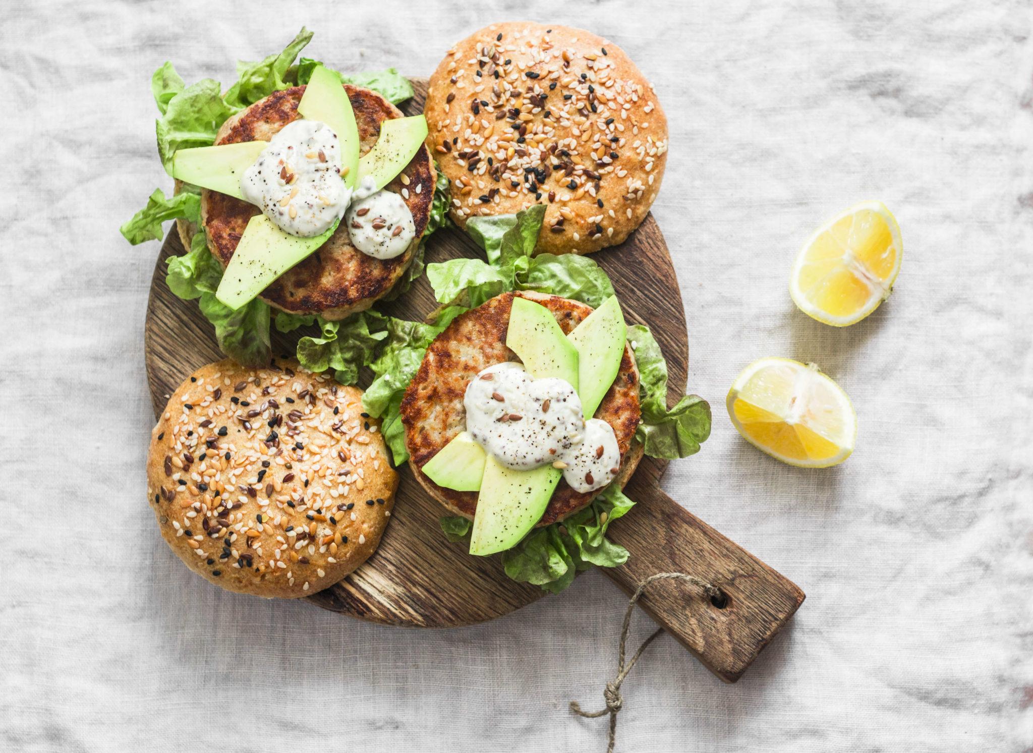 Upfit Blumenkohl-Kichererbsen-Burger