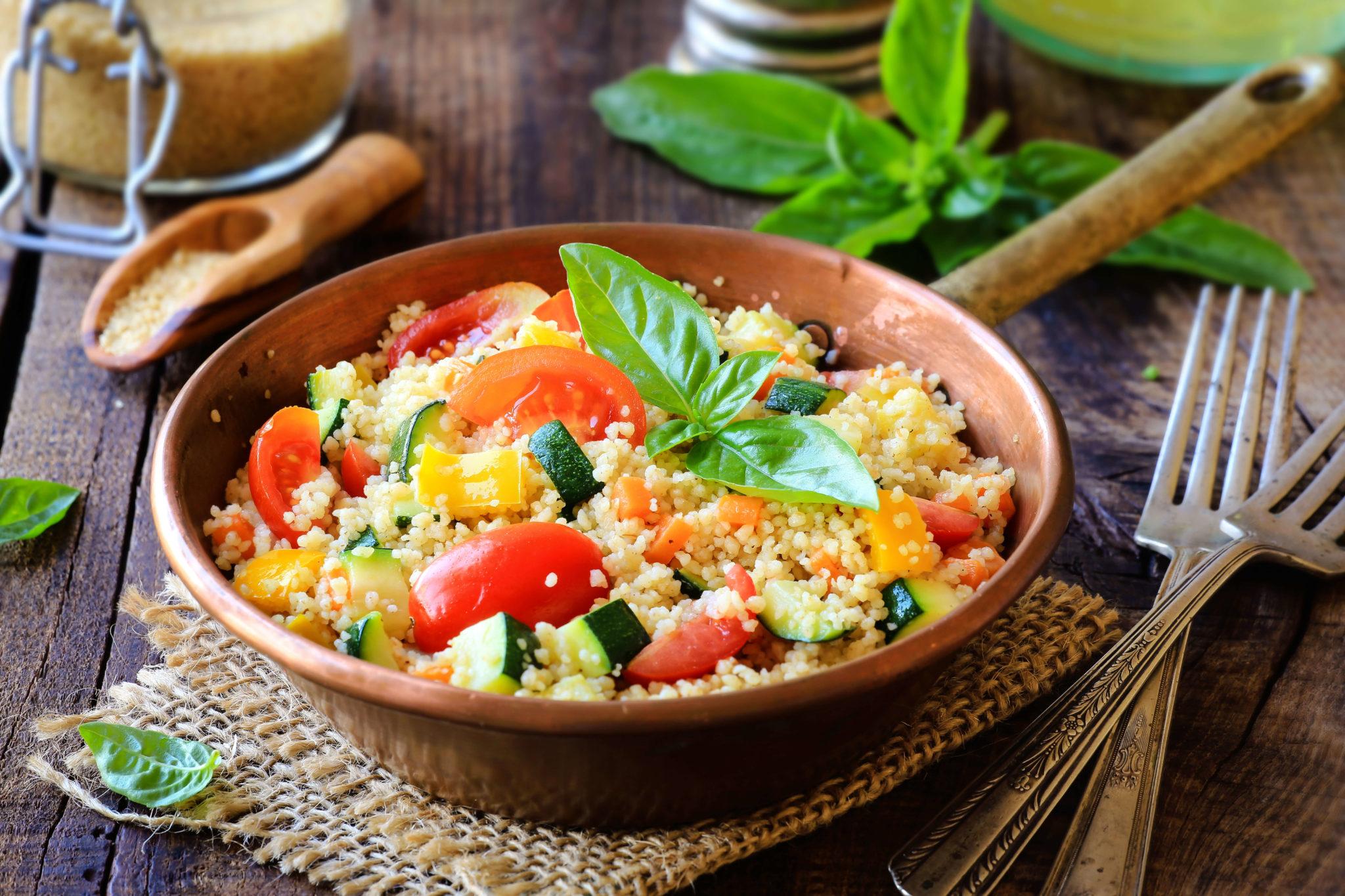 Upfit bunter Couscous-Salat