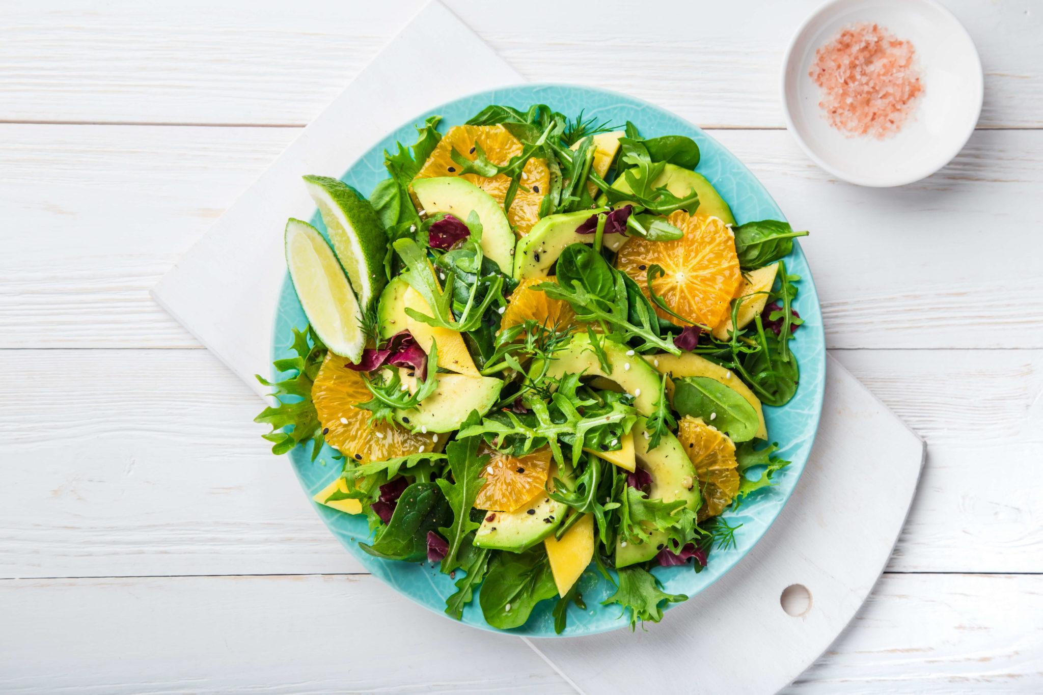 Upfit Orangen-Avocado-Mango-Salat