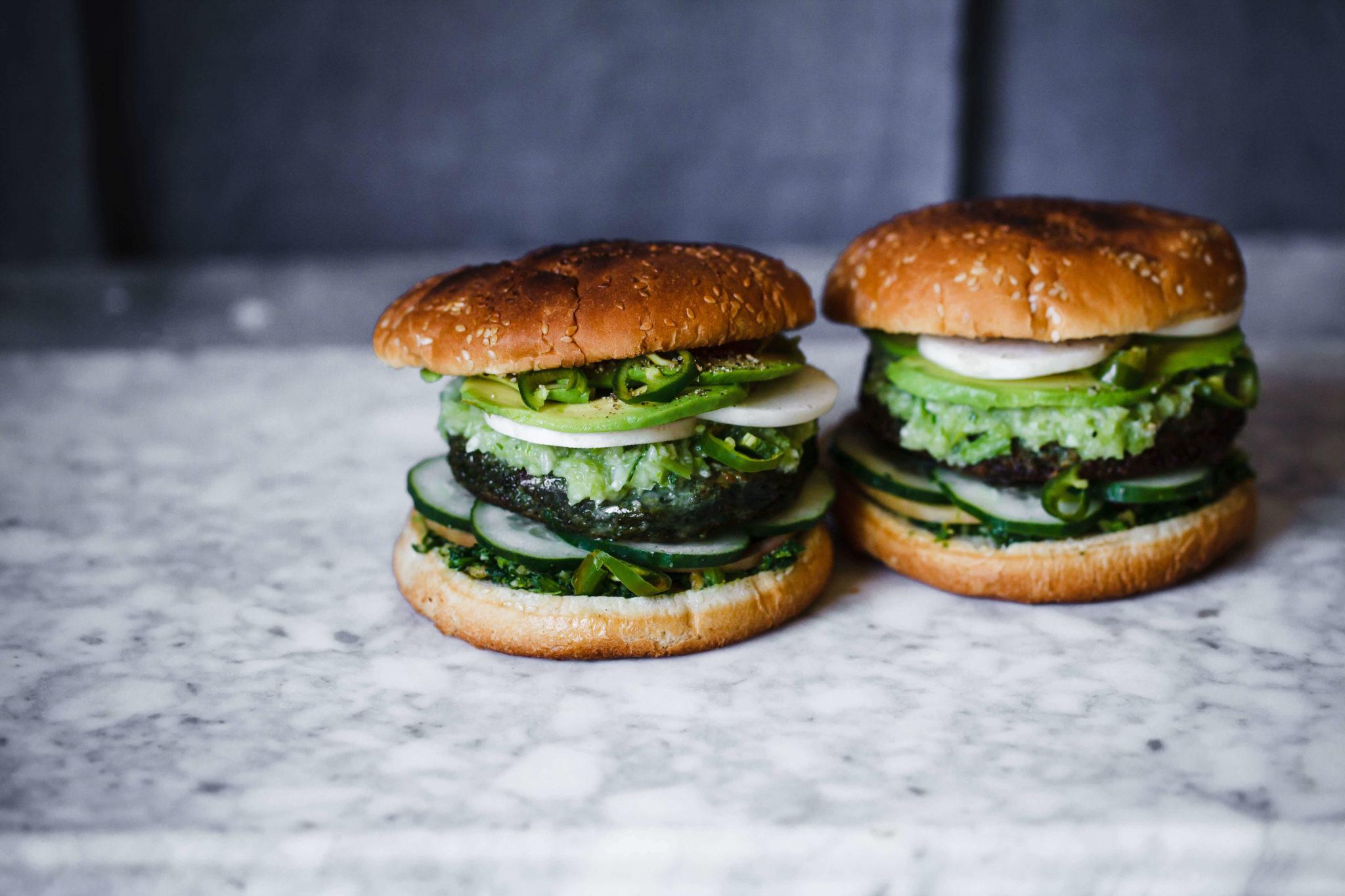 Upfit veganes Hamburger Brötchen