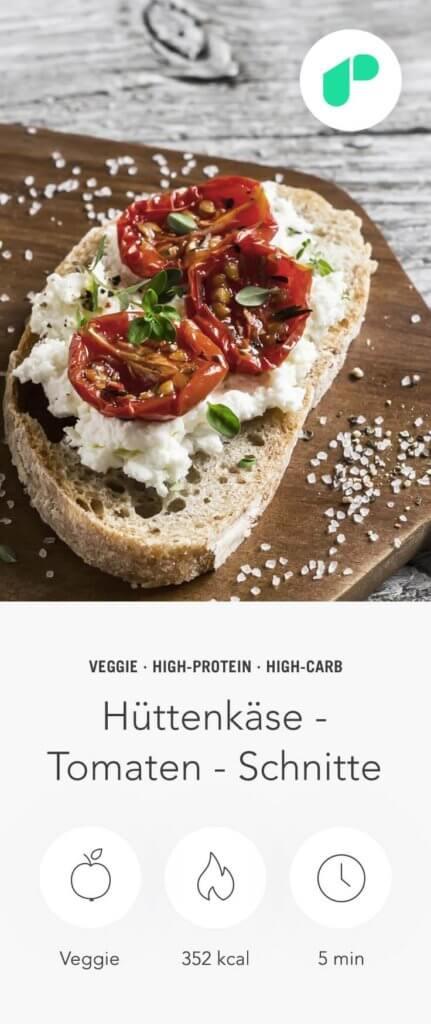 upfit-hüttenkäse-tomaten-schnitte-rezept