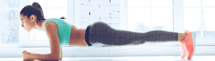 Sixpack Plank Training Bauch Übung