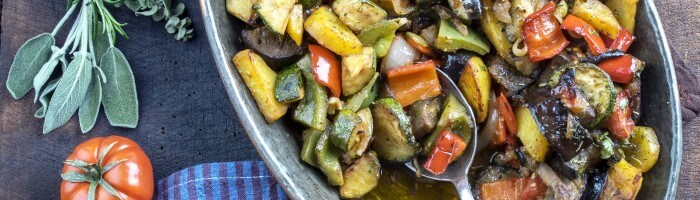 vegetarian foods - vegetables, potatoes and herbs