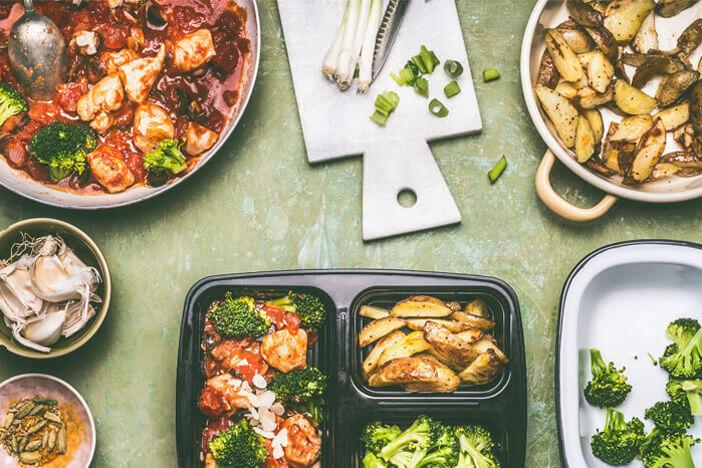 Meal-Prep essen vorkochen gesund
