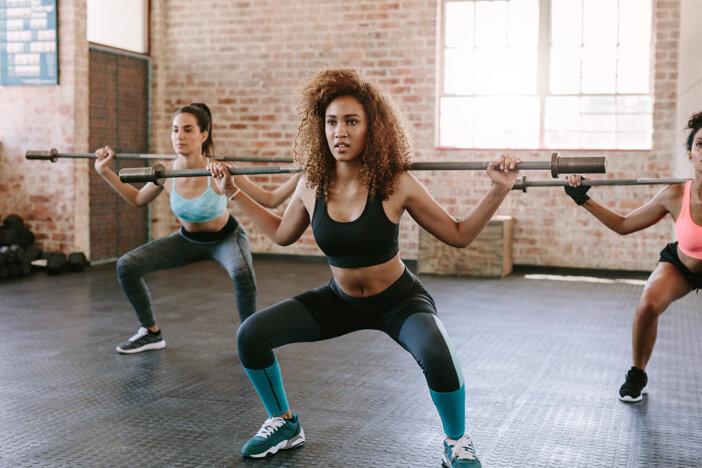 Muskelaufbau für Frauen Bauch Training Sport