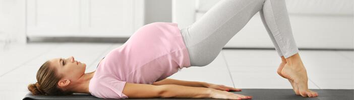 Hip Lift Schwangerschaft Übung Training Sport