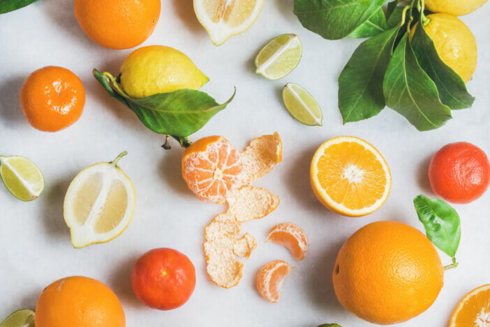 citrus fruits with a lot of vitamin c