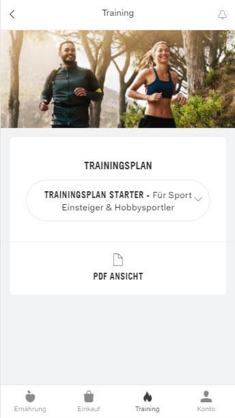 Trainingsplan Übersicht (Web)