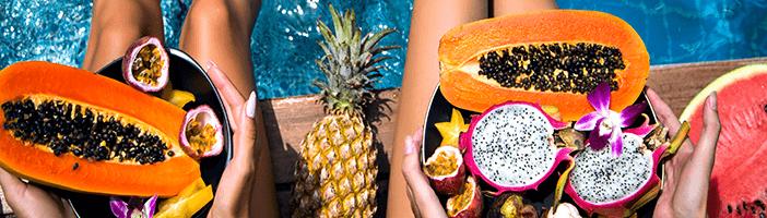 Tropischer Fruchtsaft zur Gewichtsreduktion
