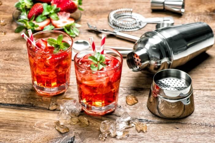 Upfit- Alkoholfreie Erdbeer-Bowle