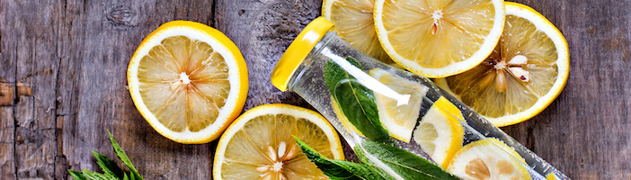 Upfit-Zitronen-Minze-Bitterstoffe