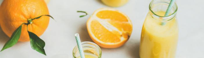 Smoothie-Fruchtsaft-Orange-Zuckerentzug