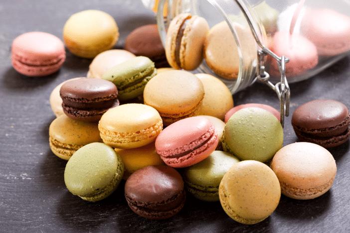 Zucker-Süßigkeiten-Zuckerentzug-Macarons