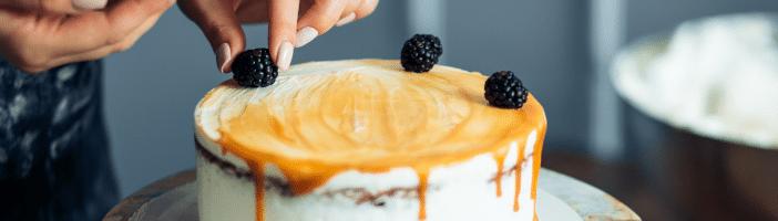 Zuckerentzug-Torte-Beeren
